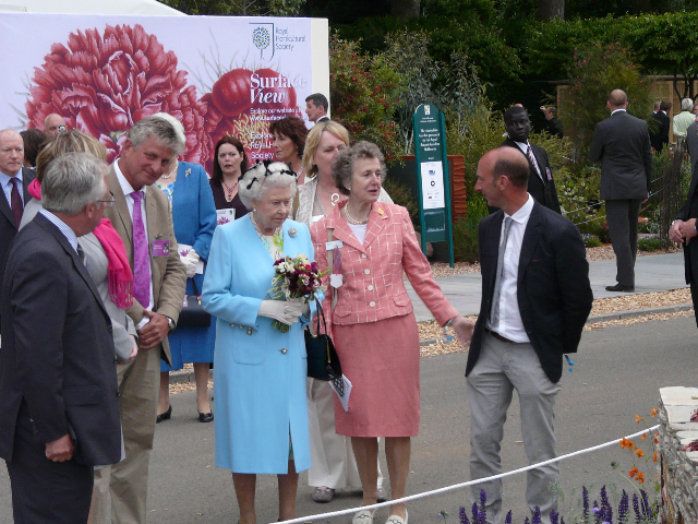 Mark meeting the Queen in 2010!, with Nigel Dunnett