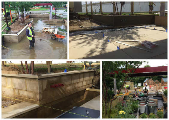 With rain everyday - it's been challenging - but Ed and the team are taking it all in their stride!