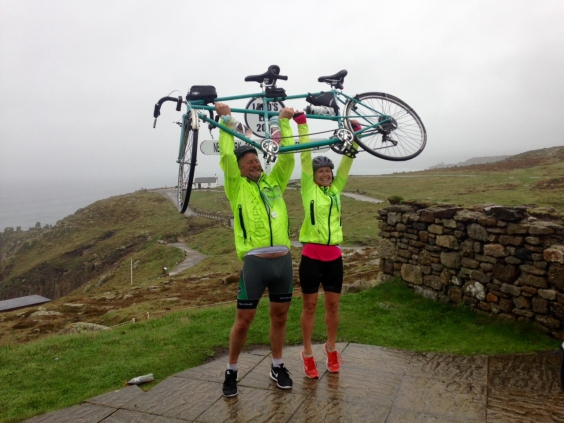 Success in the finish! Mark & Louise at Lands End.